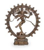 A monumental bronze figure of Siva Nataraja