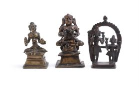 An Indian bronze figure of Siva and Parvati