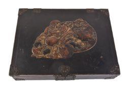 An Unusual Japanese Namban Style Lacquer Box