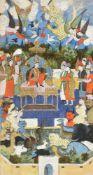 The Queen of Sheeba enthroned probably Deccan 19th century