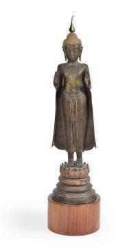 An Ayuthia bronze figure of Buddha