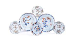 A pair of Chinese Imari circular dishes