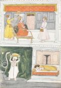 Vasudeva carries away the baby Krishnam