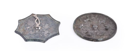 Two Chinese silvered bronze mirrors