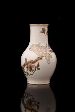 YABU MEIZAN: An Unusual Satsuma Pottery Vase