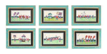 A set of twelve Chinese School paintings