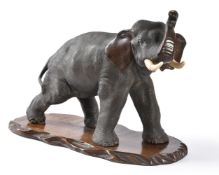 Y A Japanese Cast Bronze Model of an Elephant