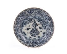 A Safavid type blue and white dish made for export