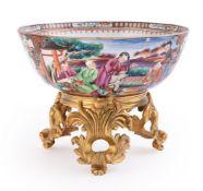 A Chinese Famille Rose Mandarin palette bowl