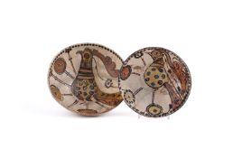 Two slipware 'Sari' pottery bowls circa 11-12th century