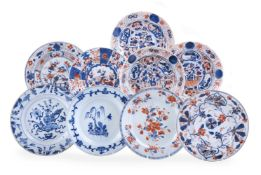 A group of nine Chinese Export plates