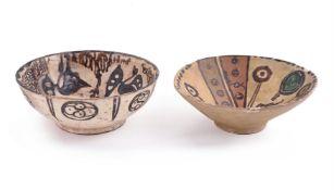 Two 'Sari' type pottery bowls circa 11-12th century