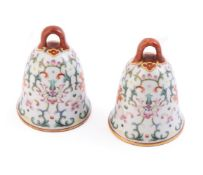 A pair of Chinese Famille Rose 'Bells'