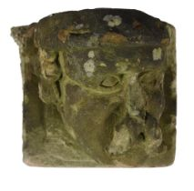 A Continental, probably German, carved stone corbel head