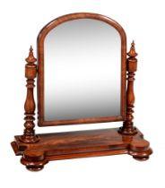 A Victorian mahogany dressing mirror