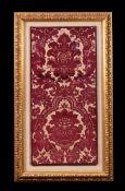 An Italian cut velvet panel