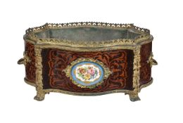 Y A French kingwood and tulipwood marquetry jardinière