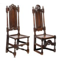 Two similar James II oak chairs