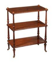 A Victorian mahogany three tier whatnot