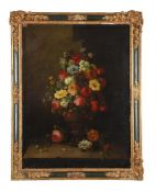 French School (18th century), Still life of flowers