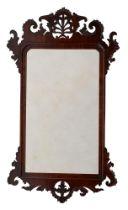 A George III mahogany wall mirror