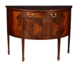 A mahogany sideboard in George III style