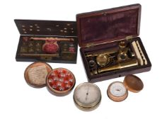 A small group of scientific instruments