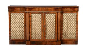 Y A George IV rosewood side cabinet