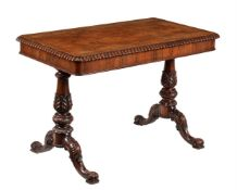 Y A Victorian rosewood library table