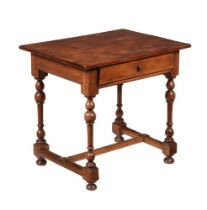 A Dutch walnut side table in early 18th century style