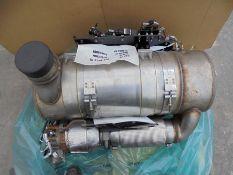 Caterpillar C7.1 exhaust system (DPF+Cat converter), p/n 362-8838.