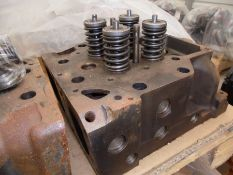 8 x used Caterpillar 3516 cylinder heads, part numbers 205-1560 and 20R3547 (mostly without