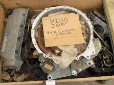 Hino J05C 4 cylinder diesel engine dismantled.