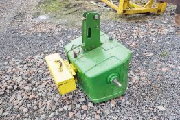 900kg front weight block with tool box.