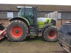 Claas Atlas 946RX tractor with front linkage, registration no. AY07 FXC, 7,380 hours.
