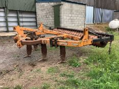 Simba 5/7 leg subsoiler with packer and tines.