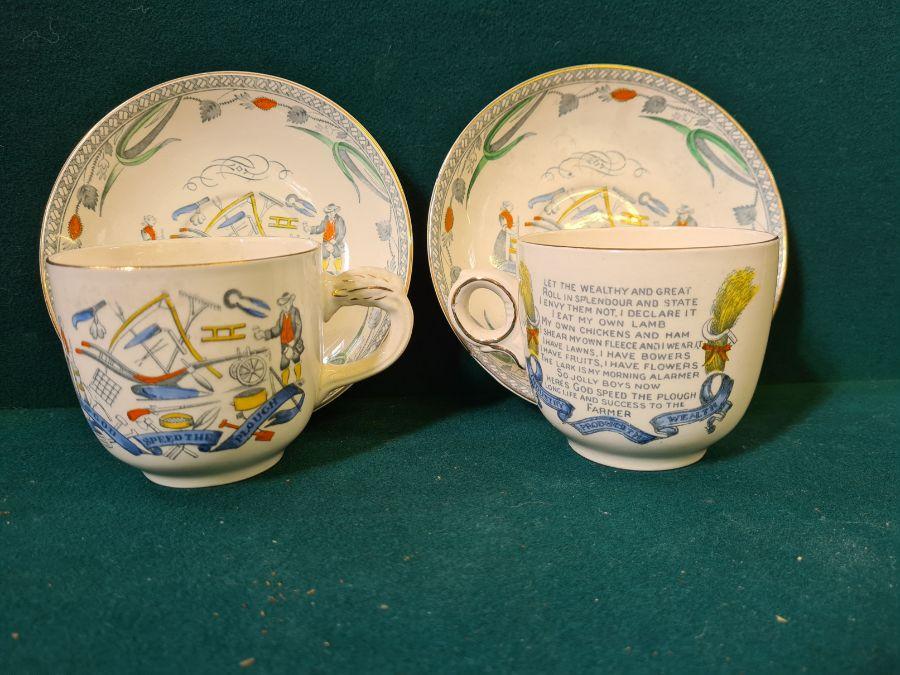 Shelley creamware part tea service, Queen Ann Country Garden floral tea service and a pair of Burley - Image 4 of 6