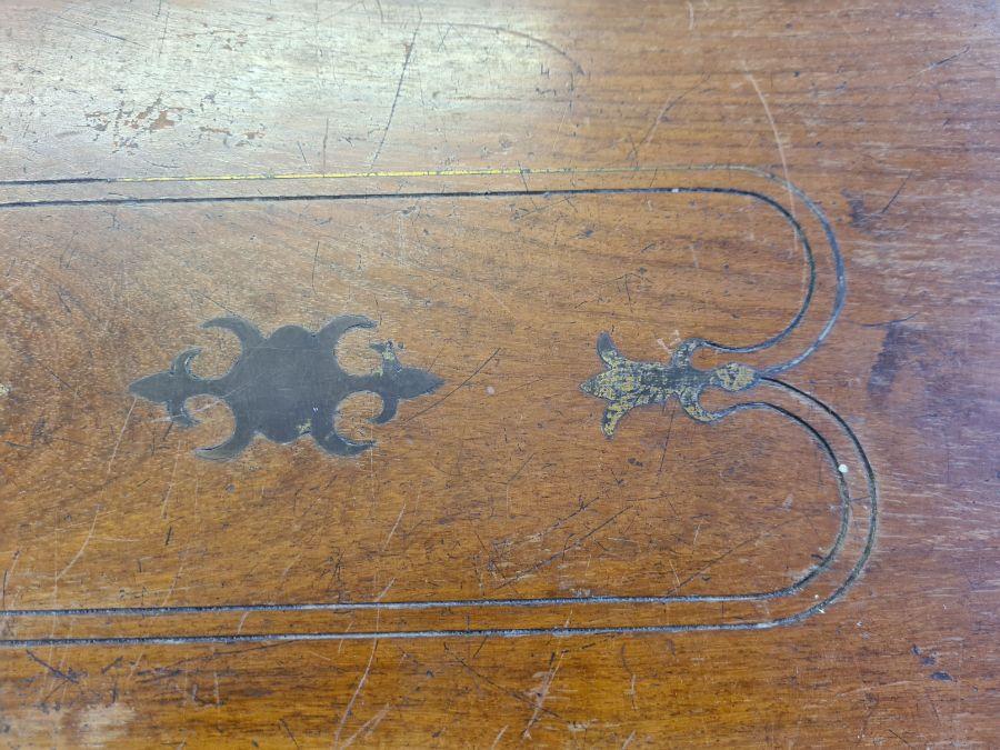 2 Victorian mahogany boxes for restoration and a small mahogany writing slope. - Image 6 of 6