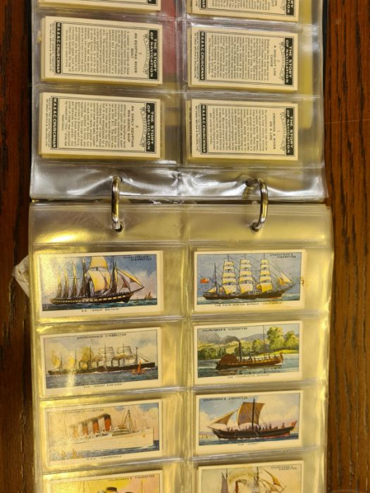 10 tea card sets, various subjects to include speed, dogs, footballers, modern naval craft,