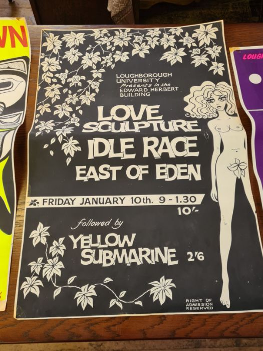 3 x 1960's Loughborough University concert posters. - Image 4 of 6
