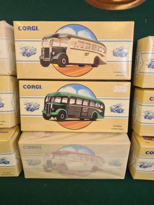 9 x Corgi Commercial Classics, all mint in boxes, some unopened. AEC Regal Eastern Counties, Leyland - Image 3 of 5