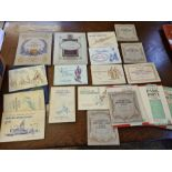 Box lot of assorted tea card albums, various subjects and a quantity of loose tea cards. Viewing