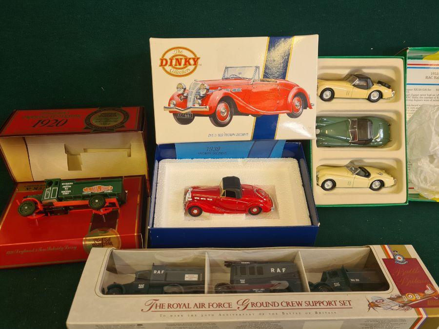 Mixed die cast toys, Lledo Royal Air Force ground crew support set, Corgi Jaguar 1953 RAC rally set, - Image 2 of 4