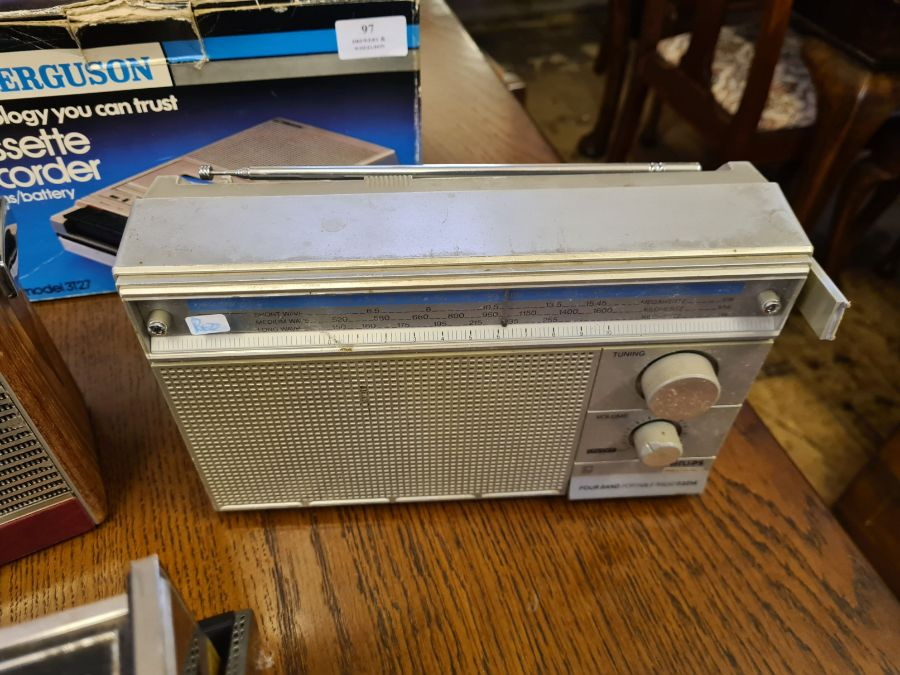 Vintage radios, Roberts R606-MB, HMV Marlborough model 2182 with brochure, Ferguson cassette - Image 5 of 5