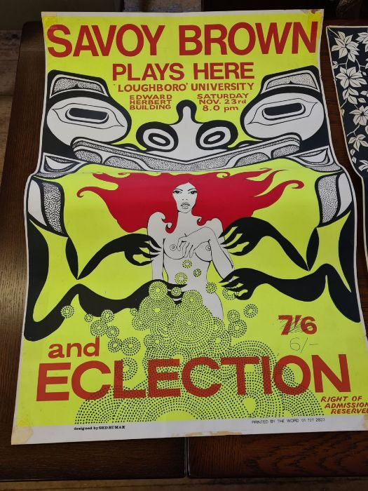 3 x 1960's Loughborough University concert posters. - Image 3 of 6