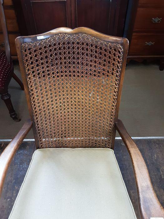 1920's begere back polished beechwood bedroom armchair. - Image 4 of 5