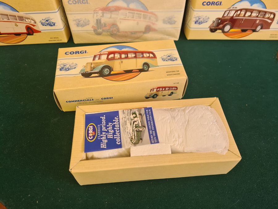 9 x Corgi Commercial Classics, all mint in boxes, some unopened. AEC Regal Eastern Counties, Leyland - Image 5 of 5