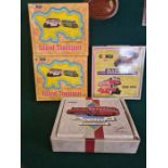 4 x boxed Corgi bus sets, mint in boxes as pictured. Barton 1908-1989, East Kent 1916-1991, 2 x