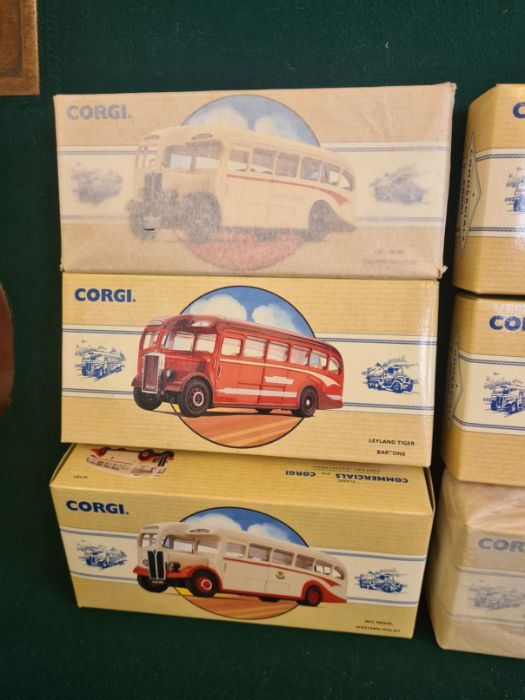 9 x Corgi Commercial Classics, all mint in boxes, some unopened. AEC Regal Eastern Counties, Leyland - Image 4 of 5