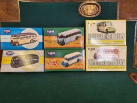 6 x Corgi die cast buses, all mint in boxes, Bedford OB Southern National, Bedford OB Howards Tours,